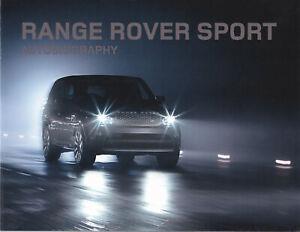 brochure 2010 LAND ROVER RANGE SPORT AUTOBIOGRAPHY !!!_ en français ____________