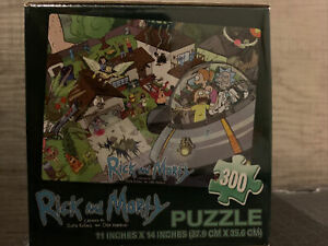 NEW Rick And Morty Adult Swim 300 Piece Jigsaw Puzzle Loot Crate Exclusive