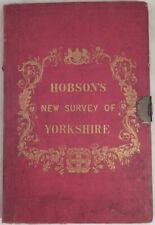 1845 William Hobson's New Survey of Yorkshire Large Folding Map