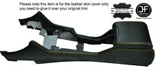 YELLOW STITCHING CENTRE CONSOLE & ARMREST LEATHER COVERS FITS BMW E39 1996-2003