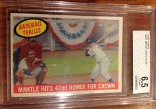 1959 Topps #461  MICKEY MANTLE  BT BVG 6.5 NEAR MINT  WELL CENTERED  undergraded