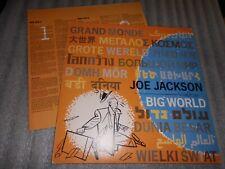 Joe Jackson  ' Big World ' Vinyl Album A&M Records .