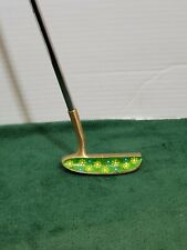 Ladies Putter RH Calico Gal Old Master Blade Style Steel Shaft Flower Print