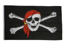 Pirate Flags - Large 5 x 3 FT - Jolly Roger Skull Crossbones Swords Skeleton