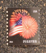 2014USA #4853 Forever Star Spangled Banner (CCL) Coil Single Mint flag fireworks