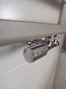 HSK Design Ventilunterteil Chrom mit Thermostatkopf Durchgangsform 890832