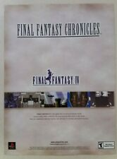 2001 FINAL FANTASY IV Full Page Print Promo Ad Magazine Clipping playstation