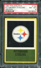 1967 Philadelphia #156 Pittsburgh Steelers insignia PSA 8