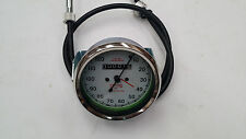 SMITHS SPEEDOMETER 120M WITH CABLE ROYAL ENFIELD BSA NORTON REPLICA WHITE
