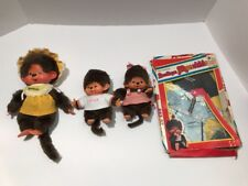 Vintage MATTEL 1980 MONCHHICHI Lot Of 3 Dolls With Boutique OUTFIT