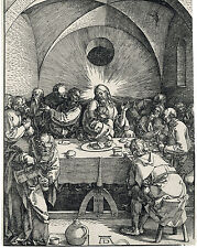 Jesus Christ The Last Supper Durer Woodcut Painting 8x10 Real Canvas Art Print