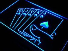 j416-b Royal Flush Poker Casino Rule Neon Light Sign