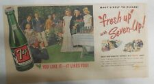 7-Up Ad: Fresh Up With Seven-Up! Family Graduation! from 1950's  7.5 x 15 inches