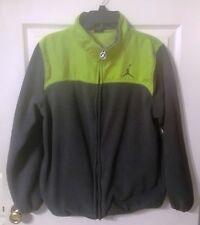 Air Jordan Green and Gray Youth XL 100% Polyester Full Zip Jacket