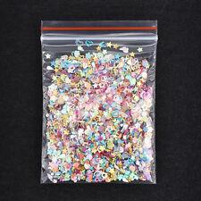 5000Pcs DIY Glitter Heart Star Flower Sequins Stickers Women's Nail Art Decors F