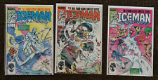 Iceman #1-3 (1984 Marvel, 1st Mini-Series) Lot of 3 comic books -VF