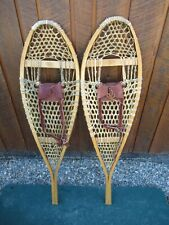 "NICE GREAT SNOWSHOES 42"" Long x 12"" FABER + Leather Bindings READY TO USE"