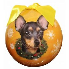 Chihuahua Black Shatterproof Ball Dog Christmas Ornament