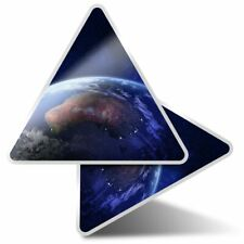2 x Triangle Stickers 10 cm - Australia Space Planet Earth View  #21167