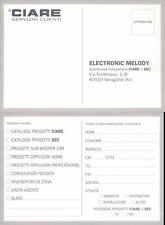 ELECTRONIC MELODY ,CARTOLINA PUBBLICITARIA ANNI 90 -48029