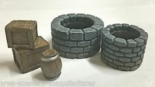 WWS Wells, Crates and Barrel Kit, Scenery Terrain Resin Wargames Railways R3