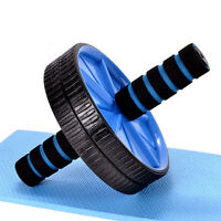 Dual Ab Wheel for Abs / Abdominal Roller Workout Exercise Fitness Blue、XBU  x MW
