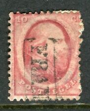 NETHERLANDS;  1864 early classic William issue fine used 10c. value