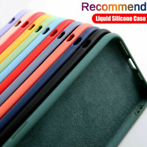For iPhone 12 Pro Max 11 XS XR X 8 7 Liquid Silicone Baby Soft Phone Case Cover
