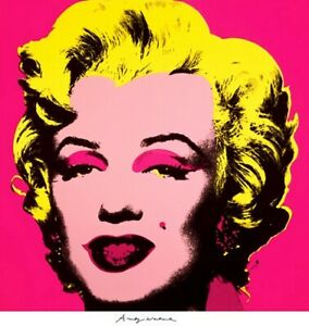 ANDY WARHOL MARILYN pink with Andy Warhol's signature limited run RARE