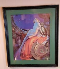 """Rare Original 1926 Signed Rolf Armstrong """"BEAUTY & THE BEAST"""" Print - Cleopatra"""