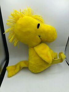 Knickerbocker Woodstock Peanuts Snoopy Yellow Bird Plush Soft Stuffed Toy Animal