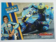 Chris Vermeulen Un-Signed Rizla Suzuki Poster Rare.