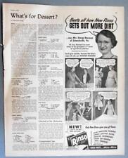 Original 1943 RINSO Ad Photo Endorsed by Mrs George Hausman, Schnecksville PA