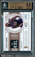 2010-11 National Treasures Materials NBA Tags Vince Carter 1/1 BGS 9.5 w/ 10