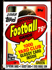 1988 Topps Football Cello Pack w/ DARRELL GREEN ON TOP ~HALL OF FAME INDUCTEE CB