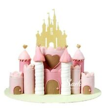 princess disney cinderella fairy castle cake topper  wedding gold glitter x1