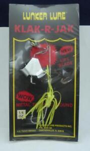 Lunker Lure K52-4 1/4 oz Klak R Jak Chartreuse Skirt Spinner Bait 1916