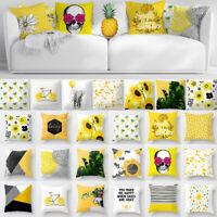 """18"""" North Europe Yellow Pillow Case Sofa Car Waist Throw Cushion Cover Home Deco"""