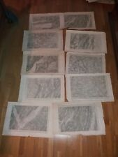 lot de 10 cartes anciennes: Macon, Saint Claude, antique maps, 1/80000 XIXeme