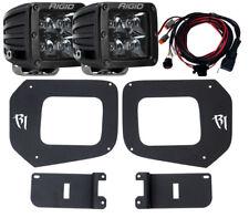 RIGID LED Fog Light Kit w/ Midnight Black PRO LED Lights for 16-17 Toyota Tacoma