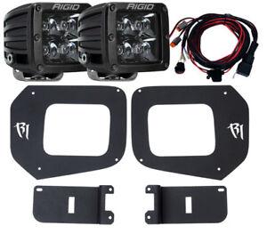 RIGID LED Fog Light Kit w/ Midnight Black PRO LED Lights for 16-20 Toyota Tacoma