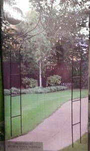 Deluxe Victoria Garden Metal Arch Climbing Plants Roses Grey / Bronze Garden Arc