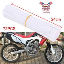 72Pcs Spoke Skins Cover Motocross Dirt Bike Wheel Guard Protector Wrap Universal