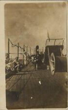 Old Real Photo Postcard - Sailor's on A U.S. Navy Ship