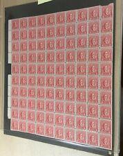 #R656 3 cent Documentary internal revenue stamps full mint sheet of 100 Mnh Og