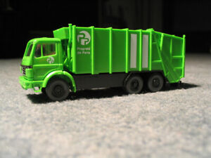 WIKING ,63903, MB Mercedes Benz, camion poubelle, Ville de Paris 1/87 -neuf, BO-