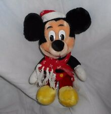 "12"" VINTAGE DISNEY MICKEY MOUSE CHRISTMAS HOLIDAY STUFFED ANIMAL PLUSH TOY DOLL"