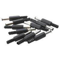 1X(10 x Schwarz Kunststoffabdeckung 2.1 x 5.5mm Maennlich DC Power Plug JacF9Z6)