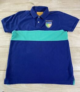 Mens GANT American Sportswear Short Sleeve Rugby Polo T-Shirt Blue Size: LARGE