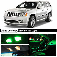 12x Green Interior LED Lights Package for 2005-2010 Jeep Grand Cherokee